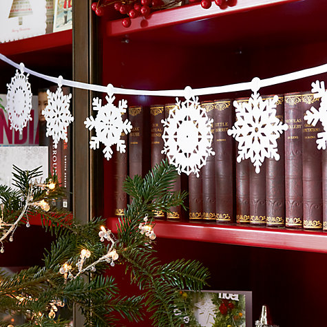 Buy Talking Tables Snowflake Garland, White Online at johnlewis.com