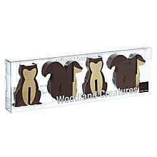 Buy Design Ideas Woodland Squirrel Decorations, Set of 8 Online at johnlewis.com