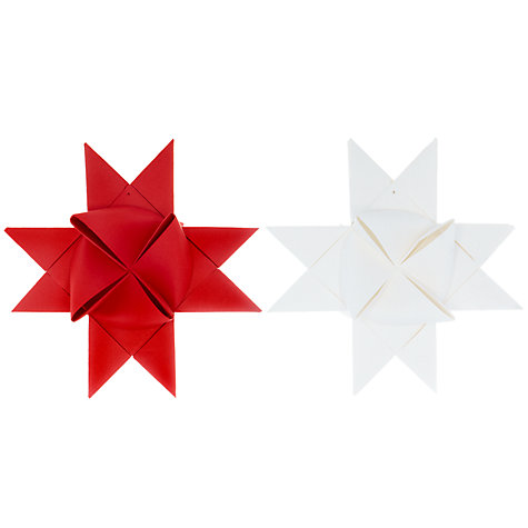 Buy Livingly Braided Hanging Star Decorations, Set of 2 Online at johnlewis.com
