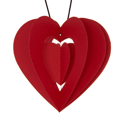 Buy Livingly Clara Red Heart Tree Decorations, Set of 2 Online at johnlewis.com
