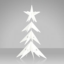 Buy Livingly Star Tree Hanging Decoration, Small, White Online at johnlewis.com