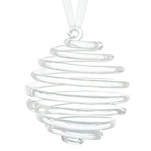 Buy John Lewis Glass Spiral Tree Decoration Online at johnlewis.com