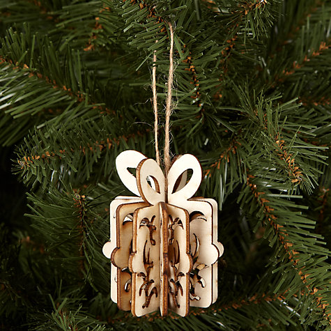 Buy House by John Lewis Laser Cut Gift Tree Decoration Online at johnlewis.com