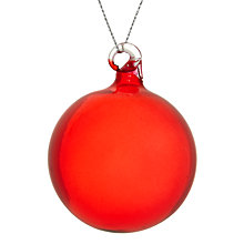 Buy House by John Lewis Clear Glass Bauble Online at johnlewis.com
