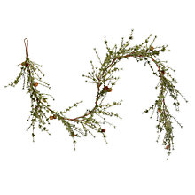 Buy John Lewis Mixed Pine Garland, L180cm Online at johnlewis.com