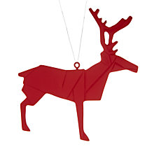 Buy House by John Lewis Origami Reindeer Tree Decoration Online at johnlewis.com
