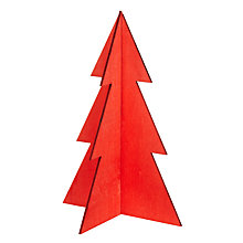 Buy Design Ideas Festive Wooden Christmas Tree, Small Online at johnlewis.com