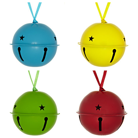 Buy John Lewis Metal Bell Tree Decorations, Set of 4 Online at johnlewis.com