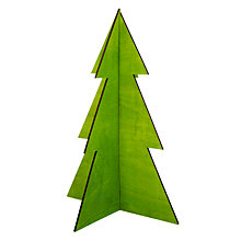 Buy Design Ideas Festive Wooden Christmas Tree, Extra Large, Forest Green Online at johnlewis.com