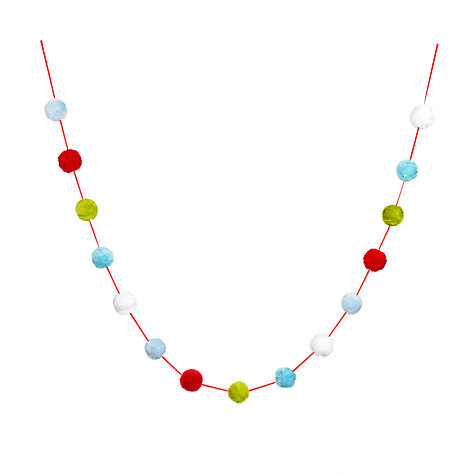 Buy John Lewis Pom Pom Garland, 2m Online at johnlewis.com