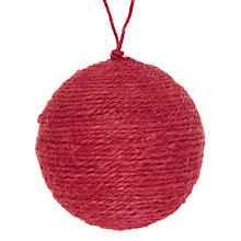 Buy John Lewis Jute Bauble Online at johnlewis.com
