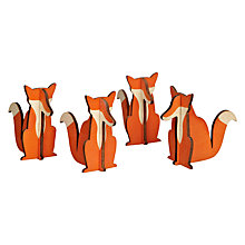 Buy Design Ideas Woodland Foxes Decorations, Set of 8 Online at johnlewis.com