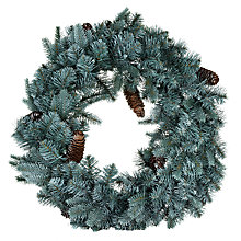 Buy John Lewis Pre-Lit Pine Wreath, 60cm Online at johnlewis.com