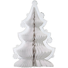 Buy Talking Tables Honeycomb Christmas Tree, White Online at johnlewis.com