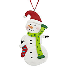 Buy John Lewis Claydough Snowman Tree Decoration, Assorted Online at johnlewis.com