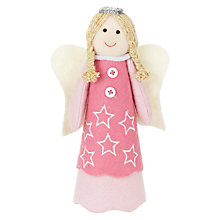 Buy John Lewis Blonde Felt Angel Tree Topper Online at johnlewis.com
