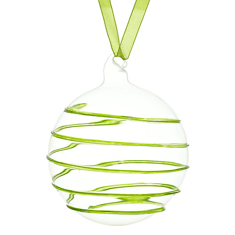 Buy House by John Lewis Swirl Glass Bauble Online at johnlewis.com