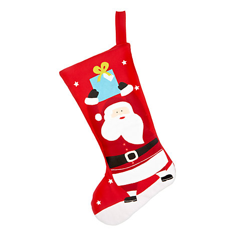 Buy John Lewis Father Christmas Large Stocking, Red Online at johnlewis.com