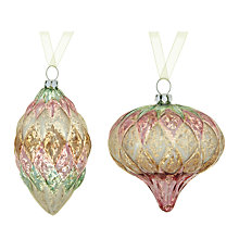 Buy John Lewis Mercurised Harlequin Glass Bauble, Assorted Online at johnlewis.com