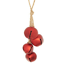 Buy John Lewis Bells Tree Decoration, Red Online at johnlewis.com