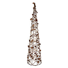 Buy John Lewis Pine Cone Christmas Tree, Small Online at johnlewis.com
