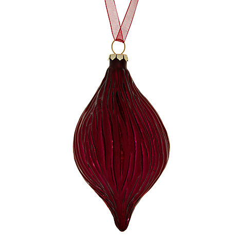 Buy John Lewis Ribbed Glass Finial Tree Decoration Online at johnlewis.com