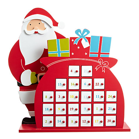 Buy John Lewis Santa Wooden Advent Calendar Online at johnlewis.com