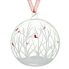 Buy House by John Lewis Woodland Glass Bauble, Clear Online at johnlewis.com