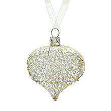 Buy John Lewis Mercurised Glass Onion Tree Decoration, Silver Online at johnlewis.com