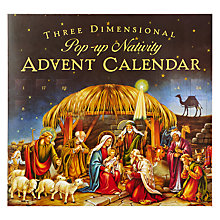 Buy 3D Nativity Advent Calendar Online at johnlewis.com