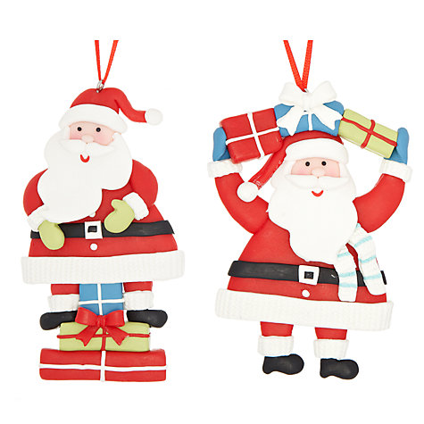 Buy John Lewis Claydough Santa with Parcels, Assorted Online at johnlewis.com