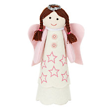 Buy John Lewis Brunette Felt Angel Tree Topper Online at johnlewis.com