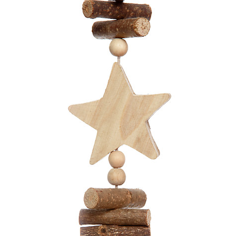Buy John Lewis Star and Pine Cone Garland, L1m Online at johnlewis.com