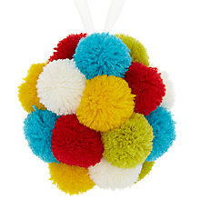 Buy John Lewis Pom Pom Bauble, Multi Online at johnlewis.com