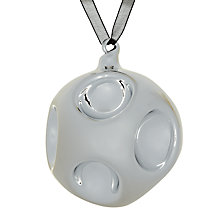Buy John Lewis Dimple Glass Bauble, Silver Online at johnlewis.com