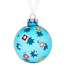 Buy House by John Lewis Star Glass Bauble Online at johnlewis.com