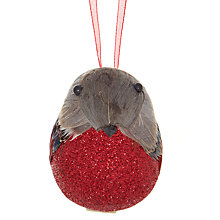 Buy John Lewis Glitter Bird Tree Decoration Online at johnlewis.com
