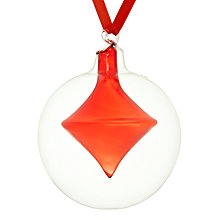 Buy John Lewis Onion in Clear Glass Ball Bauble Online at johnlewis.com