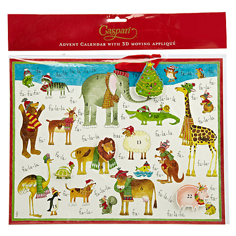 Buy Caspari Zoo Advent Calendar Online at johnlewis.com