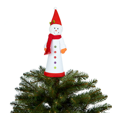 Buy John Lewis Snowman Felt Tree Topper Online at johnlewis.com
