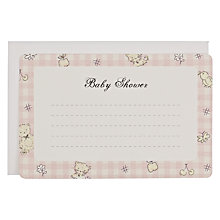 Buy Baby Shower Notecards, Pink Online at johnlewis.com