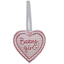 Buy Baby Girl Keepsake Token, Pink Online at johnlewis.com