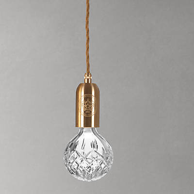 Lee Broom Clear Crystal Bulb and Pendant