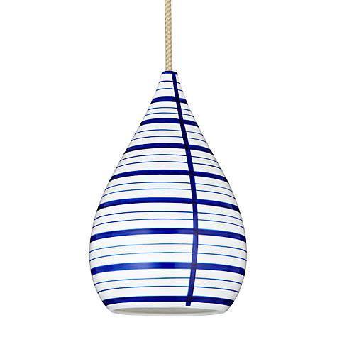 Buy Original BTC Circle Line Drop Pendant, Blue Online at johnlewis.com