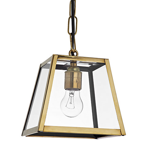 Buy Davey Lighting Quad Pendant, Small, Brass Online at johnlewis.com