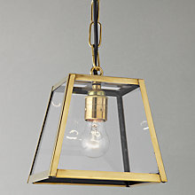 Buy Davey Quad Pendant, Small, Brass Online at johnlewis.com