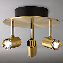Buy John Lewis Clarke LED Spotlight Plate, Brass, 3 Light Online at johnlewis.com