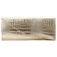 Buy Dune Bux Crocodile Print Clutch Bag Online at johnlewis.com