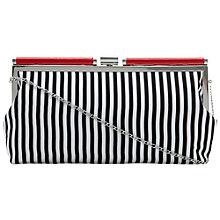 Buy Dune Blissy Striped Clutch Bag Black/White Online at johnlewis.com