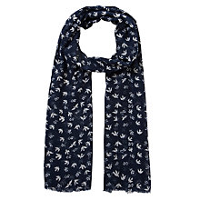 Buy Fat Face Daisy Bird Print Scarf Online at johnlewis.com